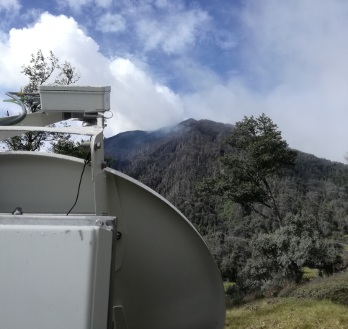 Doppler radar installed at Turrialba volcano, Costa Rica