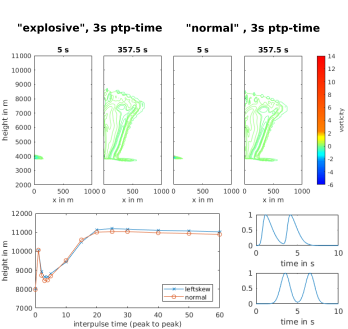 Plume dynamics with pulsed forcing