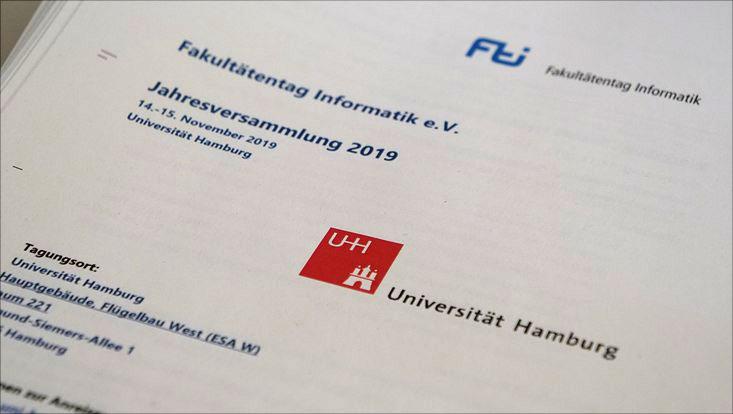 Programm des Fakultätentags Informatik an der Universität Hamburg.