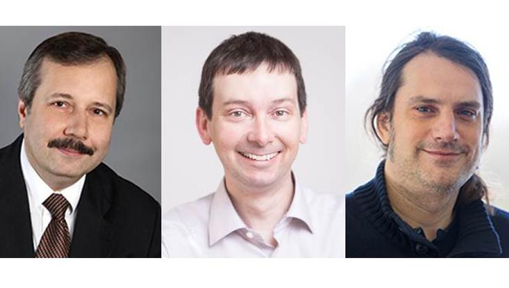 Portraits der drei Wissenschaftler