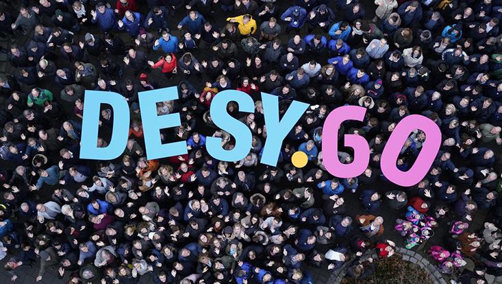 DESY anniversary logo.