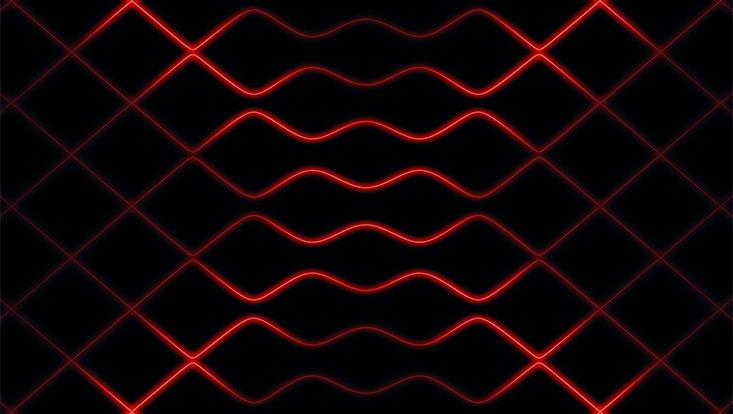 Rotes Gitter auf schwarzem Untergrund