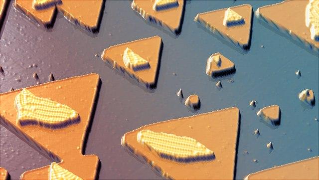 Fe-Nanostrukturen auf einer Ir(111)-Oberfläche.