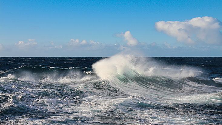 Wellen auf dem Ozean