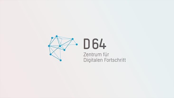 Logoschriftzug mit vernetzer Fläche in hellem Blau
