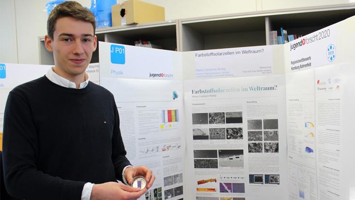 Erster Preis beim Jugend forscht Regionalwettbewerb für Mateo Cárdenes Wuttig