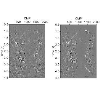 Denoising seismic images
