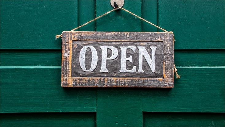 Schild open
