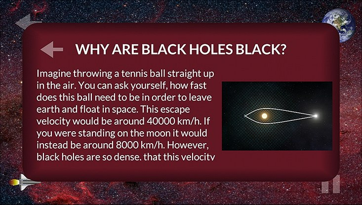 Info text about black holes