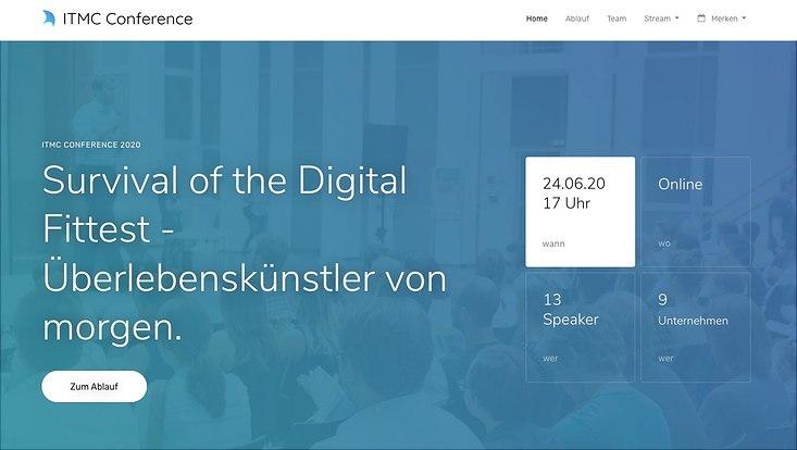 Screenshot ITMC Conference 2020