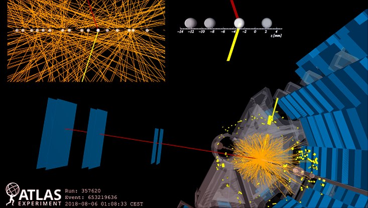 Photon collision event in the ATLAS detector.