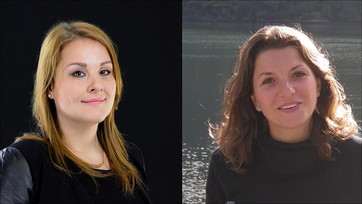Porträt-Collage Giulia Manzini und Caterina Vozzi