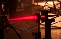 Ausschnitt aus dem Versuch zur optischen Signalübertragung