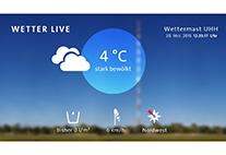 Live-Daten vom Wettermast