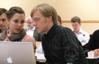 Studierende bei einem ZNF Seminar in Oslo