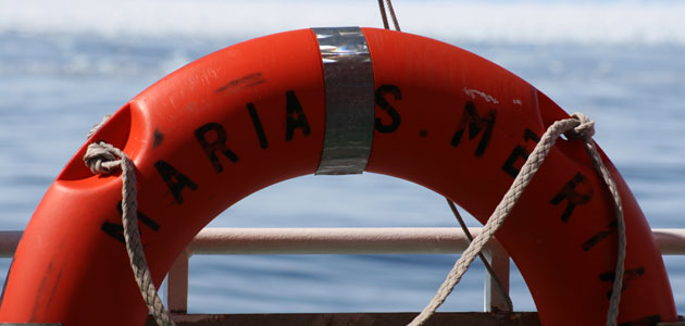 Research vessel Merian, rescue ring