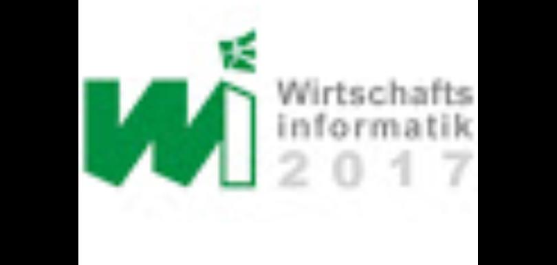 """Logo der Tagung """"Wirtschaftsinformatik 2017"""" in St. Gallen"""