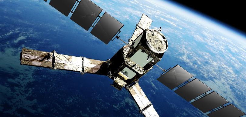 Ausschnitt SMOS Antenne mit Erde