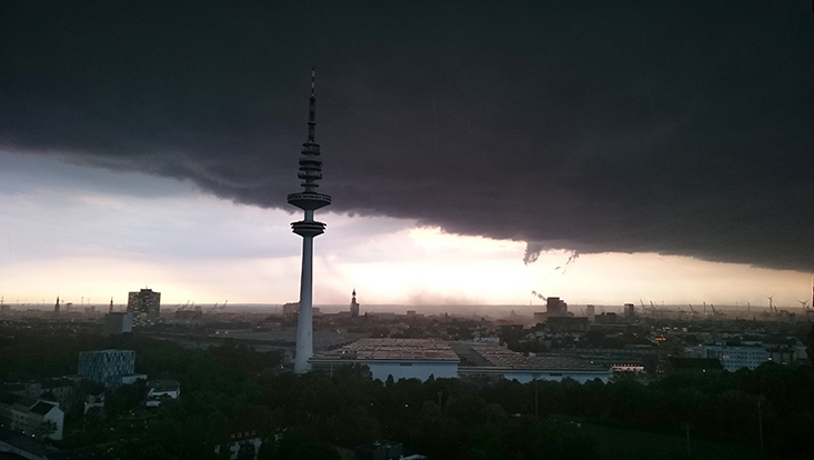 Unwetter in Hamburg