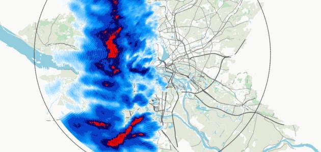 Niederschlag über Hamburg