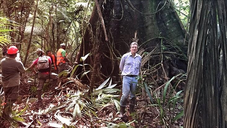 Michael Köhl in den Wäldern Surinams