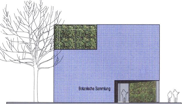 Architektenskizze Hausansicht