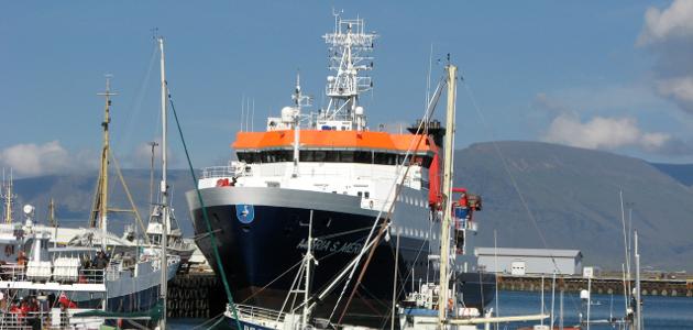 Das Forschungsschiff Maria S. Merian.