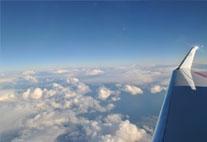 Forschung aus dem Flugzeugfenster: Wolken über dem Nordatlantik