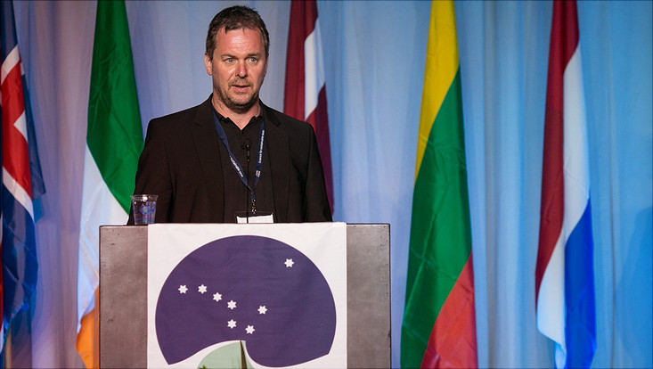 Christian Möllmann bei der Verleihung des Outstanding Achievment Awards des ICES