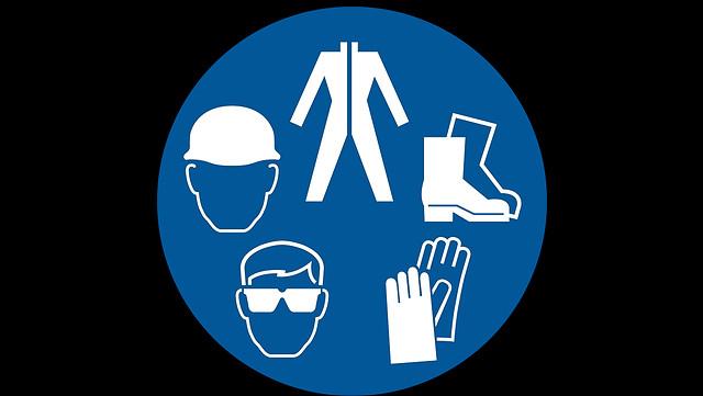 Symbole zum Thema Arbeitssicherheit