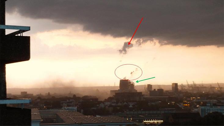 Gab es am 22. Juni 2017 einen Tornado im Stadtgebiet von Hamburg?