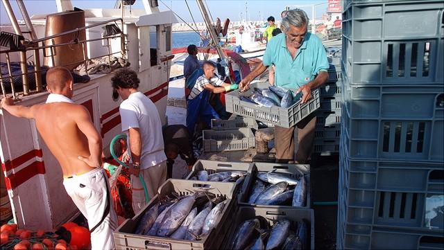 Fischer auf einem Boot