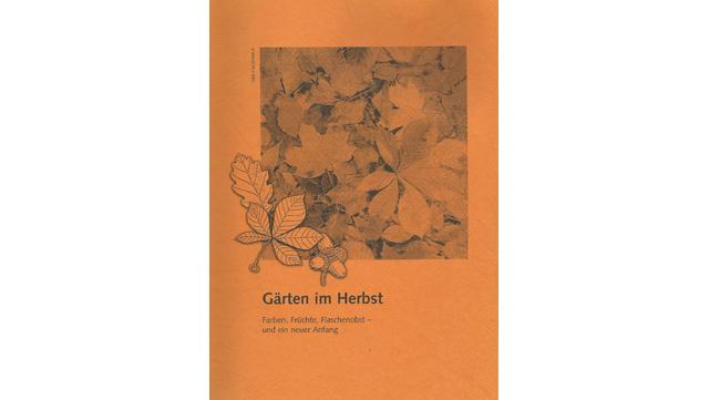 """Abbildung des Buchs """"Gärten im Herbst"""""""