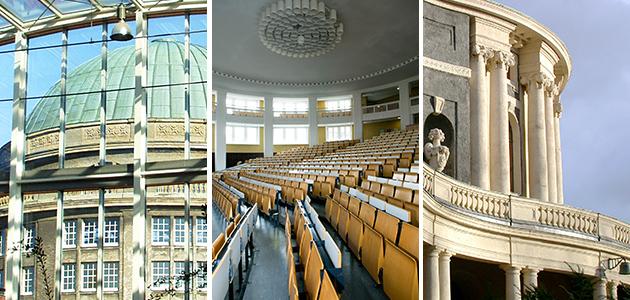 Collage Hauptgebäuder der Universität