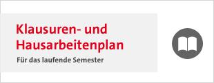 Klausuren und Hausarbeitenplan Banner