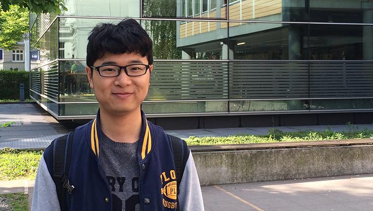 Doppelmaster-Student Sun Kairui studierte sechs Wochen in Hamburg