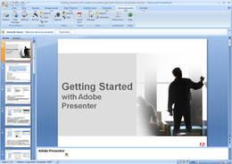 Screenshot von Adobe Presenter