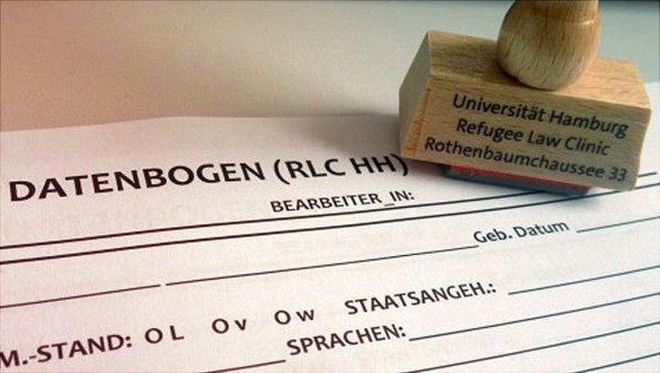 Datenbogen und Stempel RLC Hamburg