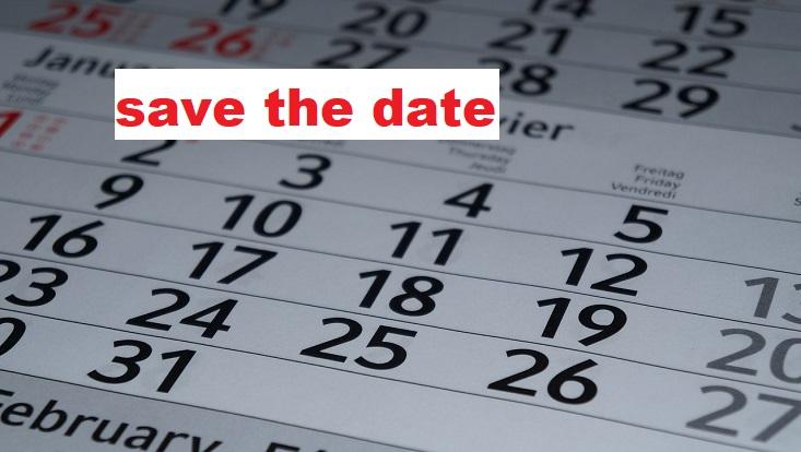 """Kalenderblatt mit Aufschrift """"save the date"""""""