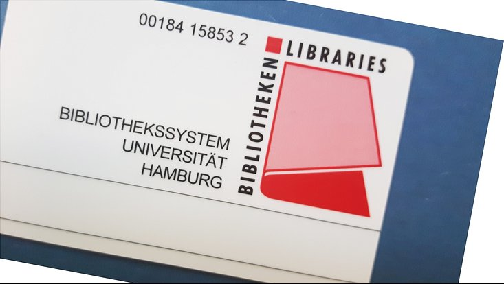 Bibliotheksausweis des Bibliothekssystems der Universität Hamburg / Library card of the University of Hamburg library system