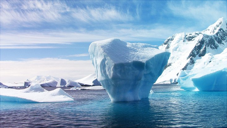 ice berg and clouds