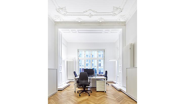 Helles Büro in der Moorweidenstraße