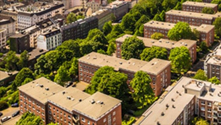 Stadt von oben
