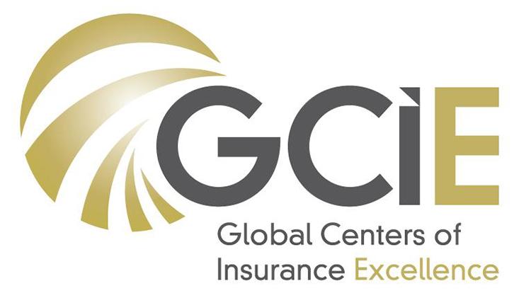 Logo des Global Centers of Insurance Excellence mit den vier Buchstaben GCIE