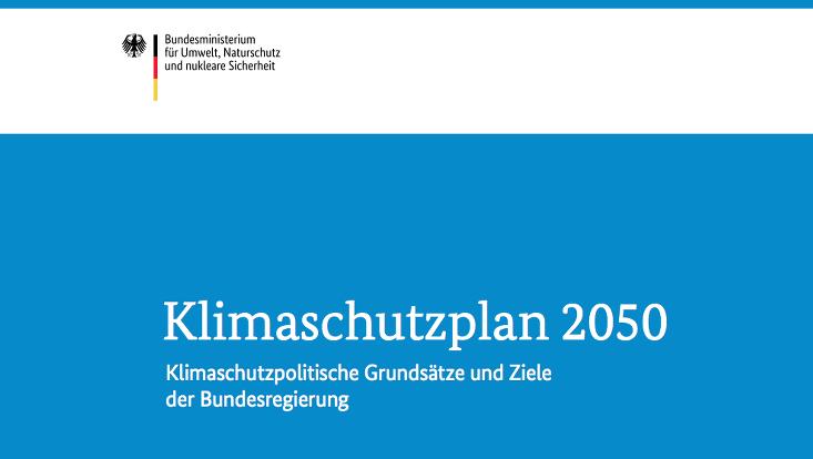 Cover Klimaschutzplan 2050