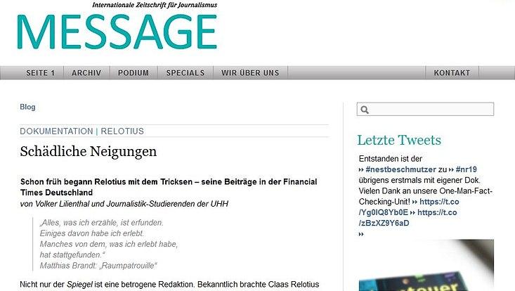Der Prüfbericht auf message-online.com