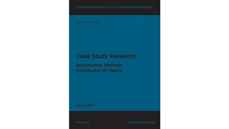 Titelseite des Buchs Case Study Research von Hans-Gerd Ridder