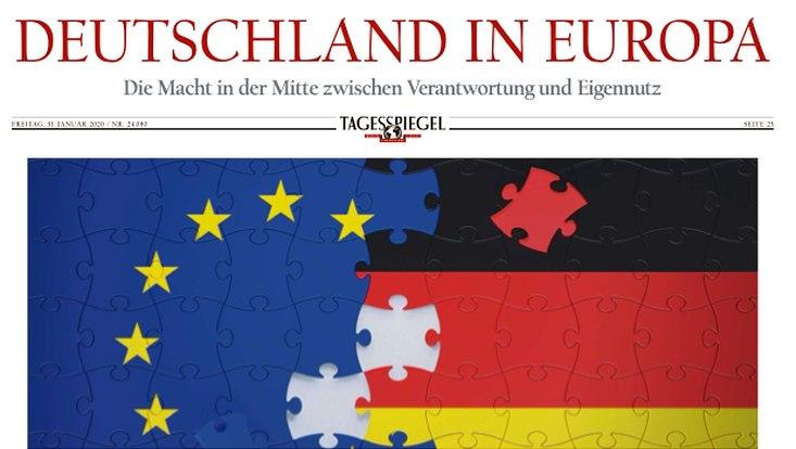 """Aufmacher der Tagesspiegel-Beilage """"Deutschland in Europa"""""""