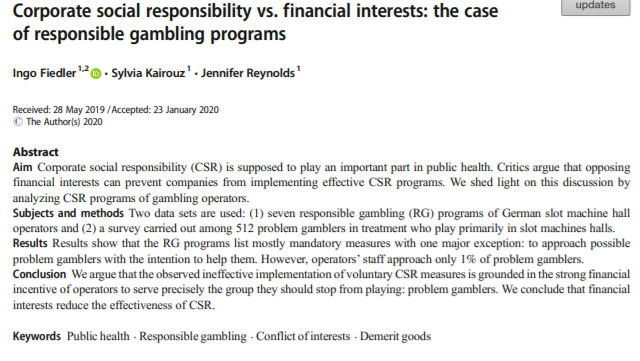 Corporate Social Responsibility vs. Financial Interests