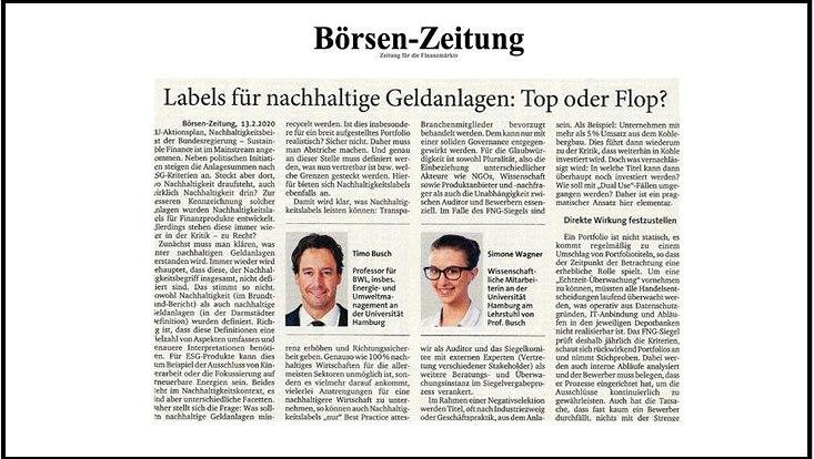 Börsen Zeitung Gastbeitrag